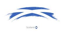 Flag Of Scotland In Rounded Gr...