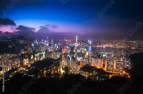 Canvas Prints Arizona Illuminated Hong Kong cityscape as seen from Jardine's Lookout, Hong Kong Island