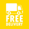 Free delivery banner background vector