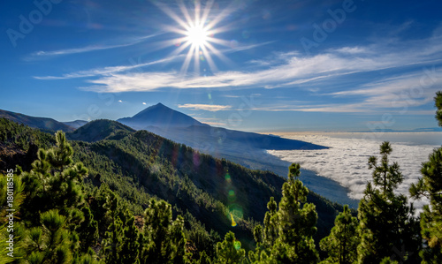 Printed kitchen splashbacks Canary Islands Teide and Clouds