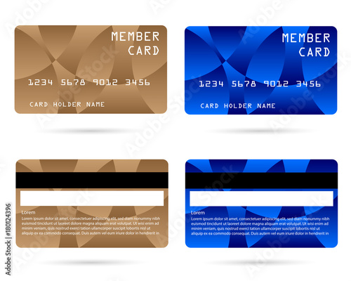 member card, business VIP card, design for privilege member,vector ...