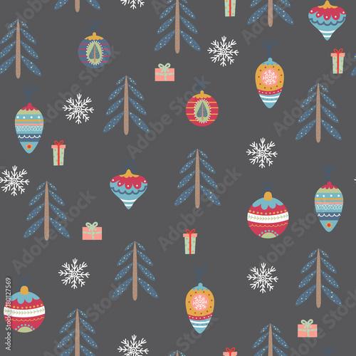 Stoffe zum Nähen Nahtlose Muster mit Weihnachten Symbole