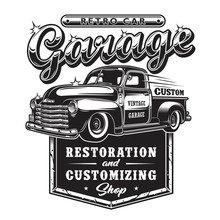 Retro Car Repair Garage Sign W...