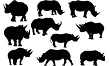 Rhinoceros Silhouette Vector Graphics