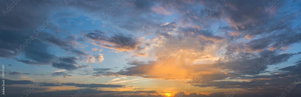 Fototapety, obrazy: Evening Sky Panorama