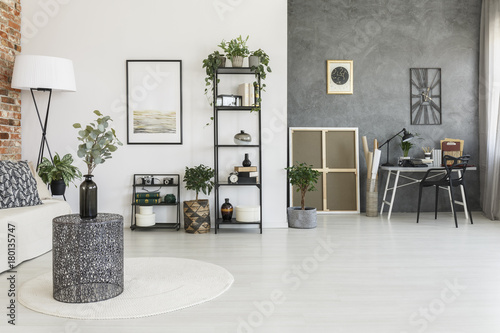 Staande foto Hoogte schaal Open space living room
