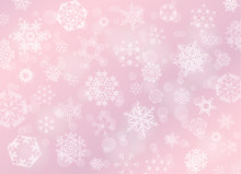 Pink Rose Christmas Background...