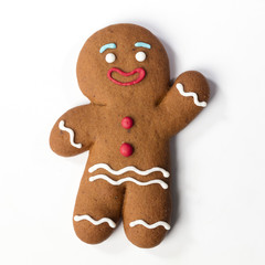Christmas Gingerbreads cookie isolated