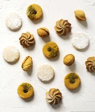 Assorted Cookies: Linzer Cookies,shortbread, Nuts Cookie, Orange Almond Cookie.