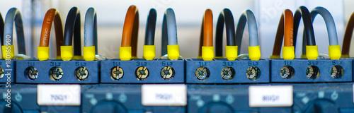 Kabel / Leitung anschluss Motorschutz Canvas Print
