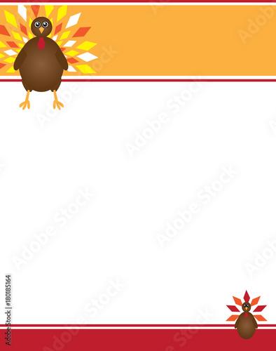 Fényképezés  Thanksgiving Turkey Border Template