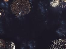 Festive Gold Fireworks Border ...