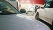 Car service - vehicle repairing in workshop