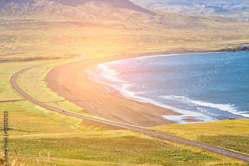 Papiers peints Beige Western Icelandic sea coastline