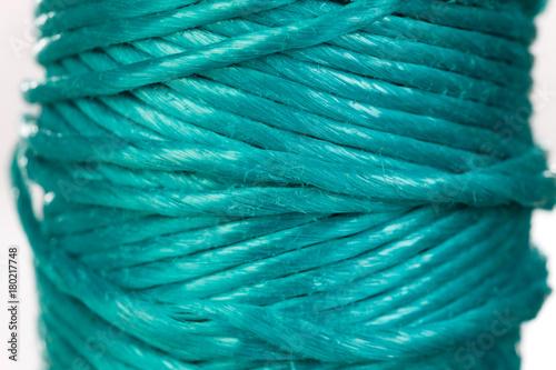 Tuinposter Schip Skein of green rope