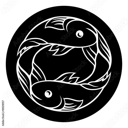 Fotografering Pisces Fish Zodiac Astrology Sign