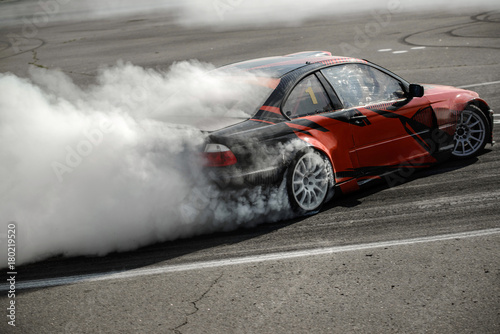 track for drifting Canvas Print