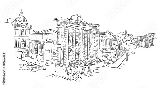 Ancient Rome roman forum Wallpaper Mural