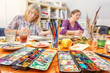 canvas print picture - Painting Workshop