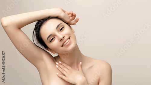 Natural beauty portrait of female face with perfect skin