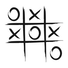 Tic Tac Toe Game Vector Icon