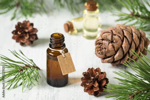 Fotografie, Obraz  The essential oil of cedar and spruce
