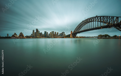 Staande foto Sydney Evening skyline of Sydney downtown