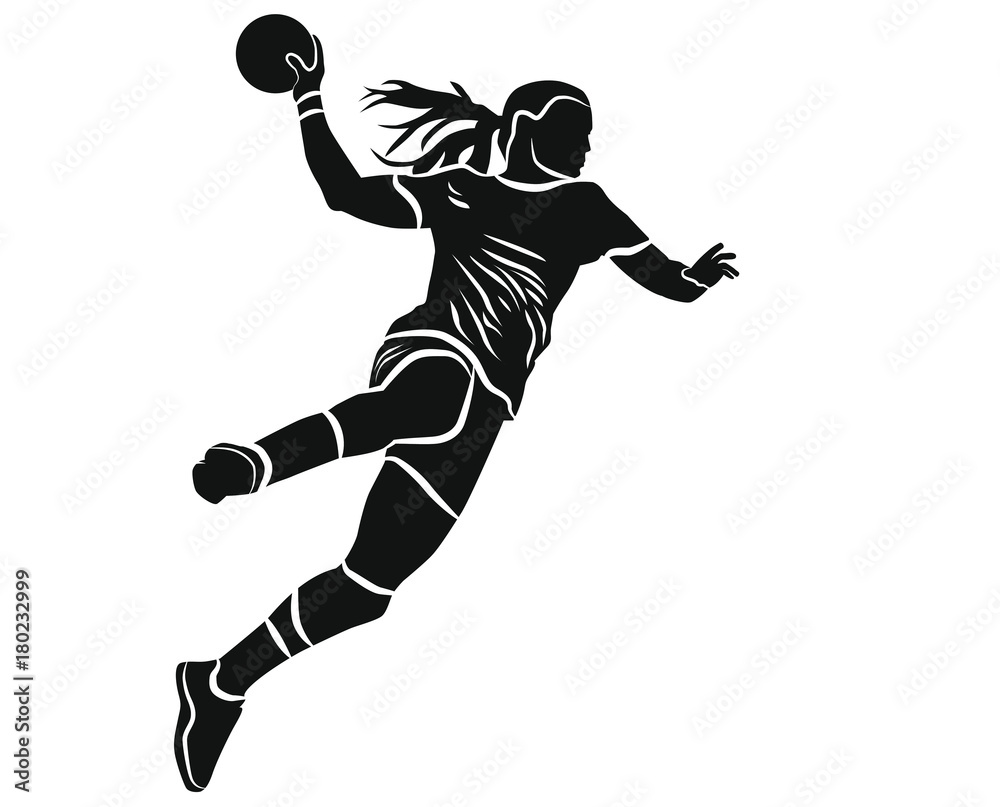 Fototapety, obrazy: Handballeuse