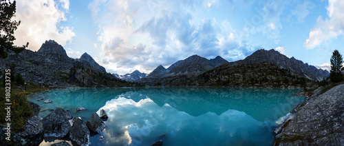 Darashkol lake in the Altai mauntains. Canvas Print