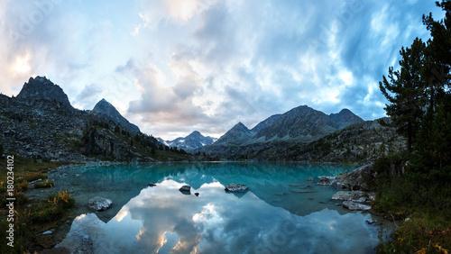 Darashkol lake in the Altai mauntains. Wallpaper Mural
