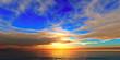 beautifully sunset over ocean
