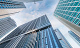 Skyward view of skyscrapers, business and corporate concept - 180239342