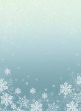 Illustration Mit Schneeflocken...