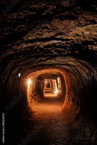 Mine Tunnel Tablou Canvas