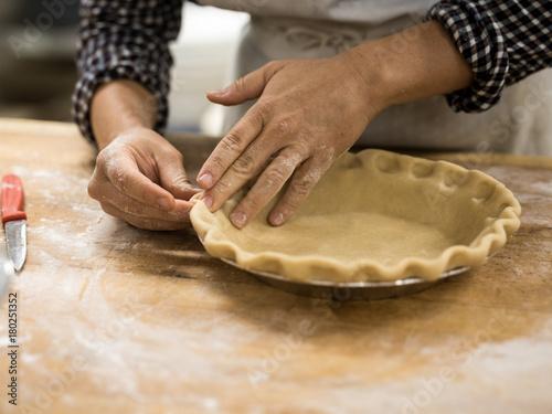 shaping pie crust Canvas Print