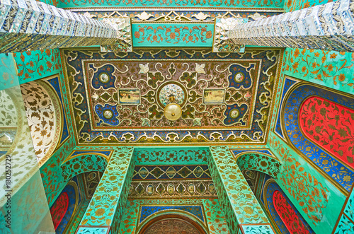 Portico of Windcatchers building of Golestan, Tehran