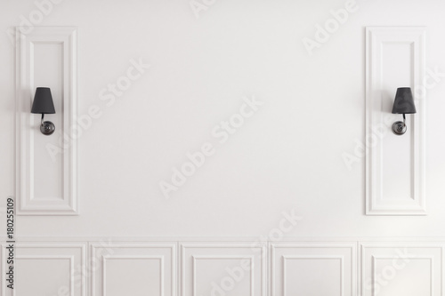 Spoed Foto op Canvas Wand White classic wall