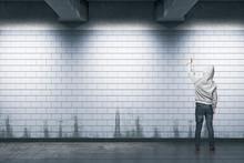 Man Painting Graffiti