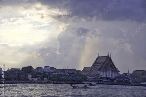 Chao Phraya river, sunset Poster