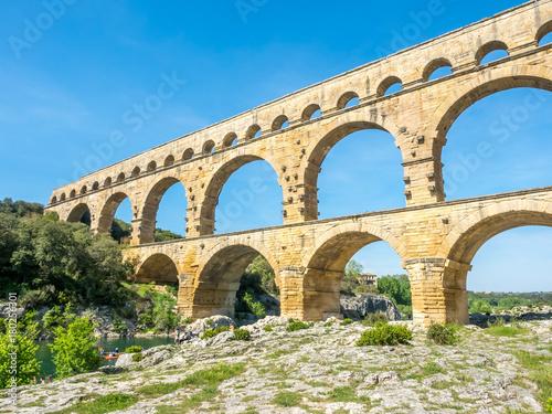 Staande foto Artistiek mon. Pont du Gard in Nimes, France