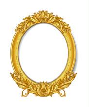 Oval Gold Vintage Picture Frame