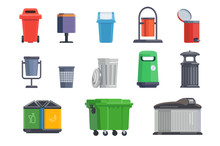 Set Of Garbage Cans For Home A...