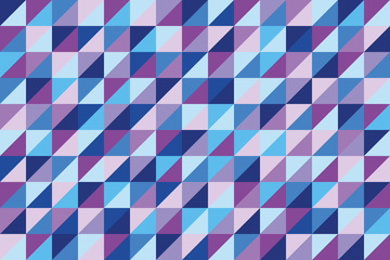 Panel Szklanygeometric background of triangles in hues of blue and purple