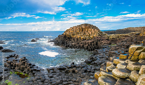 Fotografía  Unesco heritage landscape of the Giant's Causeway in County Antrim