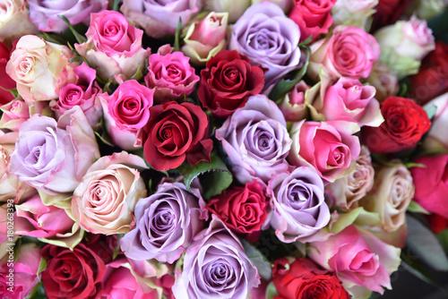 Bouquet De Roses Multicolores Buy This Stock Photo And Explore