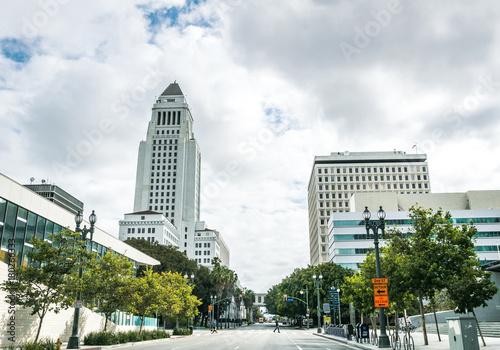 Fototapeta Los Angeles biala-ulica-los-angeles-w-kalifornia