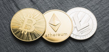 Cryptocurrency Coins - Bitcoin...