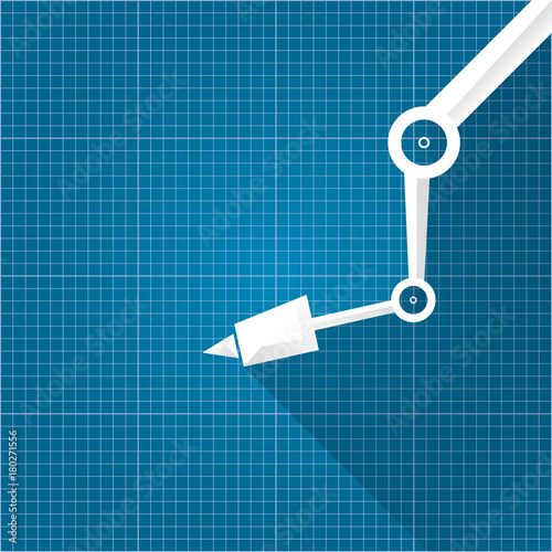 Vector robotic arm symbol on blueprint paper background robot hand vector robotic arm symbol on blueprint paper background robot hand technology background design malvernweather Images