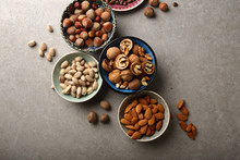 Assorted Nuts In Bowls