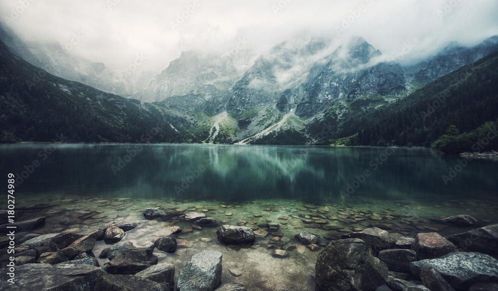 Fototapety, obrazy: autumn view of Morskie Oko lake, Zakopane in Poland